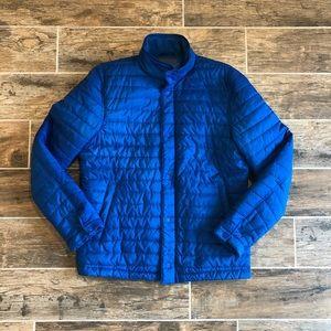 Bonobos   Men's Blue Quilted Puffer Zip Up Jacket